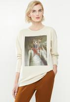 ONLY - Royal long sleeve o-neck sweater - pumice stone