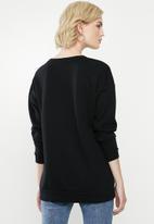 ONLY - Royal long sleeve o-neck hood - black