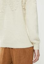 ONLY - Anelia long sleeve  pullover - almond milk