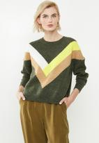 ONLY - Fcora long sleeve pullover - multi