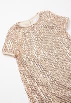 Superbalist - Sequin dress - rose gold