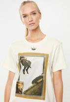 adidas Originals - Fakten graphic print T-shirt - cream