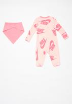 Nike - Nkn nsw footed coverall bib - echo pink