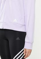 adidas Performance - Must have 3 stripe hoodie - purple