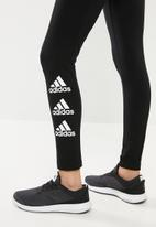 adidas Performance - Stacked tights - black & white
