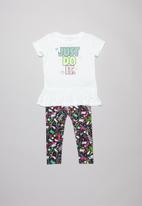 Nike - Nkg scribble tunic & leggings set - emerald rise