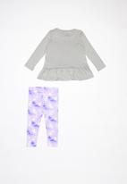 Nike - Nkg peplum tunic and leggings set - purple agate