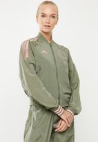 adidas Performance - Vrct woven jacket - green & pink