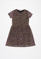 name it - Lucky short sleeve dress - multi