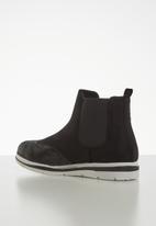 Jada - Flatform ankle boot - black