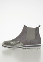 Jada - Flatform ankle boot - grey