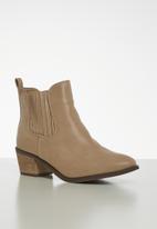 Jada - Pin tuck ankle boot - beige