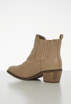 Jada - Pin tuck ankle boot - beige