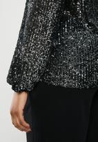 MILLA - Sequin blouse - black