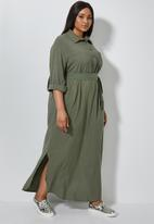 Superbalist - Maxi shirt dress - khaki