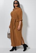Superbalist - Maxi shirt dress - rust