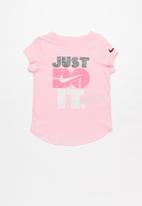 Nike - Nike jdi faux heather short sleeve  scoop - pink