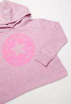 Converse - Converse overdye chuck patch hoodie - pink