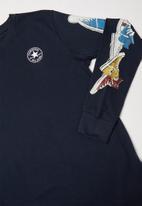 Converse - Converse sneaker sleeve longsleeve - navy