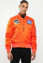 Alpha Industries - Ma-1 vf nasa camo - orange