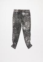Nike - Nkg girls df watercolor legging  - black