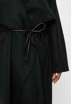 VELVET - Waterfall coat - black