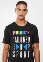 PUMA - Graphic tfs tee - black