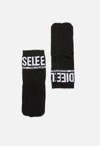Diesel  - Ray 3 pack logo socks - black & white