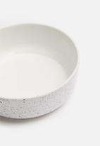 Urchin Art - Speckle cat bowl - white