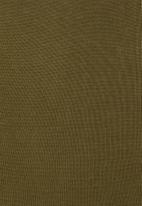 Superbalist - Organic cotton knitwear dress - olive