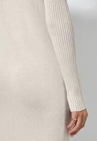 Superbalist - Organic cotton knitwear dress - neutral