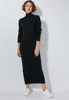 Superbalist - Organic cotton knitwear dress - black