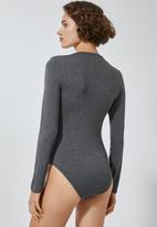 Superbalist - 2Pack crew neck bodysuit - navy & grey