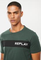 Replay - Side logo tee - teal