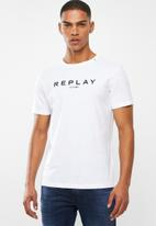 Replay - Premium pigment wash tee - white