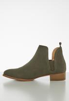 Jada - Brush nubuck ankle boot - khaki