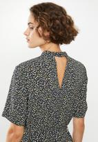 Jacqueline de Yong - Piper high neck dress - multi