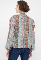 Superbalist - Ruffle femme blouse - multi