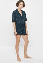 Superbalist - Sleep shirt & shorts set - navy