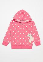 POP CANDY - Girls polka dot hoodie - pink