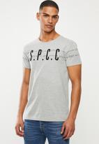 S.P.C.C. - Elias printed applique tee - grey melange