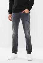 Replay - Slim hyperflex washed grey jeans - grey