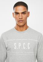 S.P.C.C. - Webster signature crew neck sweat - grey melange