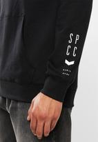 S.P.C.C. - Buckthorn applique logo hoodie sweat - black