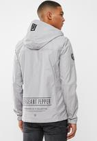 S.P.C.C. - Marshall lightweight hooded jacket - silver grey