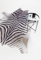 Sixth Floor - Faux zebra hide rug - black & white
