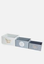 H&S - Crate set of 3 - blue