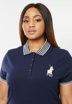 POLO - Plus Leaha short sleeve golfer dress - navy