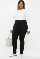 POLO - Plus Arabelle concealed front shirt - white