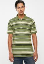 JEEP - Stripe short sleeve golfer - multi